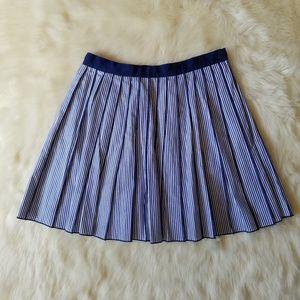 Vineyard Vines Poplin Stripe Pleated Skirt Size 0